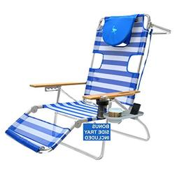 Ostrich 3 N 1 Beach Chair/Lounger/Chaise with Side Tray