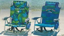 2 Tommy Bahama Backpack Cooler Chair with Storage Pouch and