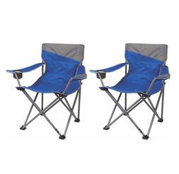 Coleman 2 Folding Big-N-Tall Oversized Quad Chairs, Blue
