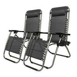 2 folding zero gravity lounge chairs utility