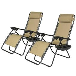 2 new Zero Gravity Chairs |  Patio Chairs Outdoor Yard Beach