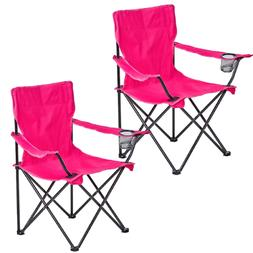 2 Pack Foldable Picnic Beach Camping Chair Fold Up Sports Ou
