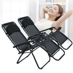 Ancheer 2 PC Oversized Adjustable Zero Gravity Chairs,Outdoo