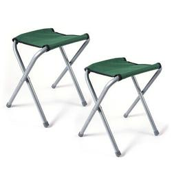 2 PCs Portable Chair Folding Camping Stool Outdoor Stool Fis