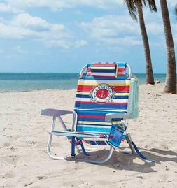2 Tommy Bahama Backpack Beach Chairs Adjusts to 5 Positions