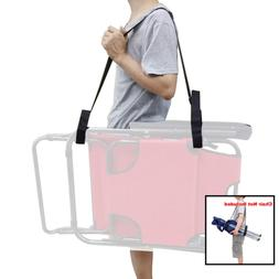 2 X Adjustable Beach Chair Carry Strap Universal Folding Bed