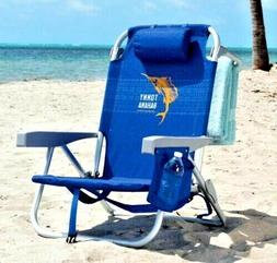 2019 Tommy Bahama Folding Backpack Beach Chair ,5 Positions,