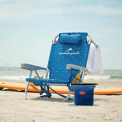 Tommy Bahama Beach Chair with Cooler Bag Adults Backpack Blu