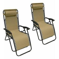 ALEKO 2FLCH-SD Outdoor Patio Foldable Chaise-Longue Leisure