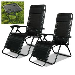 2x Garden Folding Textoline Sun Lounger Recliner Beach Chair