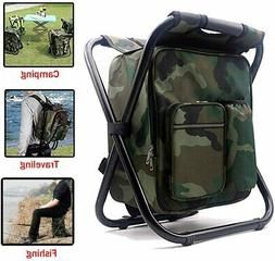 3 In 1 Cooler Backpack Foldable Fishing Chair Portable Outdo