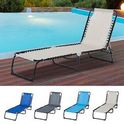3 position portable reclining beach chaise lounge