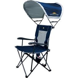 GCI Outdoor 3-Position Quad Reclining Camp Chair with SunSha