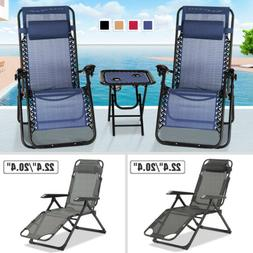 3pc 1pc zero gravity beach recliner chair