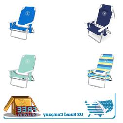 4-5 Position Deluxe Lightweight Folding Beach Chair Adjustab