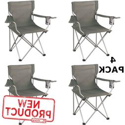 4 PACK Folding Camping Chair Portable Outdoor Chairs W/ Cup