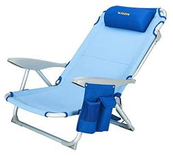 #WEJOY Lightweight 4-Position Lay Flat Folding Beach Chair w