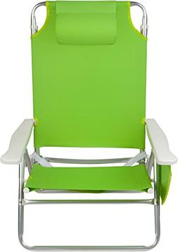 Trademark Innovations 5-Position Beach Chair with Carry Stra