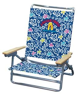 Tommy Bahama 5 Position Classic Lay Flat Beach Chair Floral