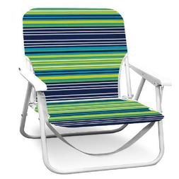 RIO BEACH 5 POSITION HIGH BACK BEACH CHAIR SET OF 2 - BLUE S