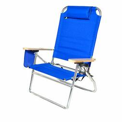 Extra Large - High Seat Heavy Duty 4 Position Beach Chair w/