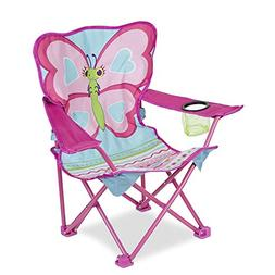 "Melissa & Doug 27"" x 25"" x 15"" Cutie Pie Butterfly Camp Chai"