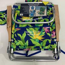 Tommy Bahama Backpack Beach Chair 5 Positions Wooden Arms 25