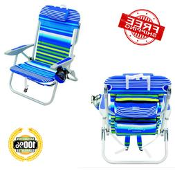 Backpack Beach Chair Adjustable Portable Outdoor Camping Cup
