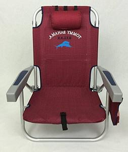 Tommy Bahama Backpack Beach Chair / Scarlet Red
