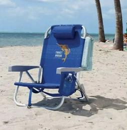 Tommy Bahama Backpack Beach Chair, Blue 5 Positions, Capacit