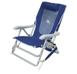 GCI Outdoor Backpack Beach Chair, Nautical Blue