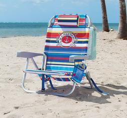 Tommy Bahama Backpack Beach Chair Portable Seat with Drink H