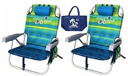 Tommy Bahama Backpack Beach Chairs with One Medium Tote Bag