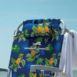 TOMMY BAHAMA BACKPACK BEACH FOLDING CHAIR COLOR: YELLOW PINE