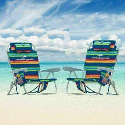 Tommy Bahama Backpack Cooler Chairs , with Storage Pouch and
