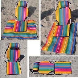 Beach Chair Light Backpack Portable Mat Lounger 1.5 lb alumi