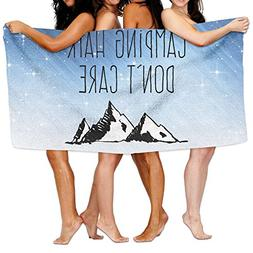 Qyahooshy Bath Towel Camping Hair Don't Care Customize Light