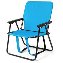 "BCP 12"" Height Seat Backpack Folding Chair Outdoor Beach Cam"