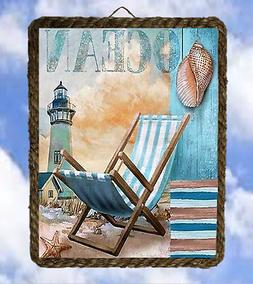 Beach 57 Ocean Relax Chair Light house Wall Signs Art Coasta