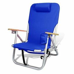 Beach & Camping Lightweight Aluminum Backpack Chair 4 Positi