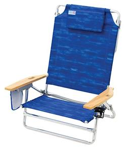 Rio Beach Big Kahuna Extra Large Folding Beach Chair, Blue
