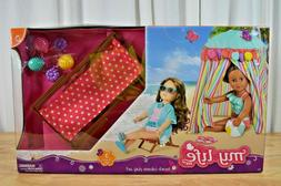 "My Life As Beach Cabana Play Set fits 18"" Doll American Tent"
