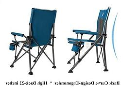 Beach Camping Garden Chair By Timber Ridge Metal Blue Color