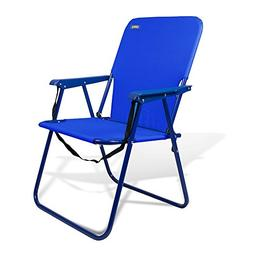 "Beach & Camping Sturdy Chair 15"" Height with Shoulder Strap"