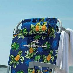 TOMMY BAHAMA BEACH CHAIR BACKPACK PINEAPPLE PRINT COOLER TOW