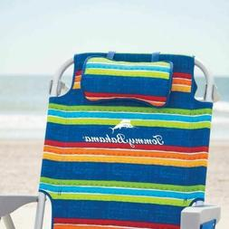 TOMMY BAHAMA BEACH CHAIR BACKPACK GREEN RAINBOW STRIPES COOL