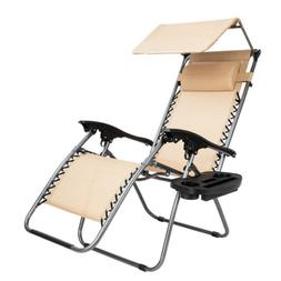 Beach Chair Lawn Chairs Zero Gravity Lounge Chair with Awnin