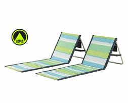Beach Chair Outdoors 2-Pack Lounger Park Camping Picnic Seat