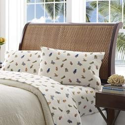 Tommy Bahama Beach Chairs Sheet Set, Queen, Multi