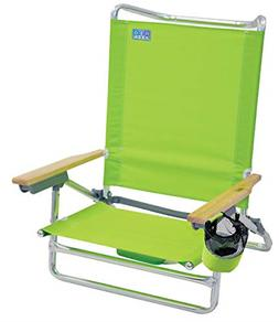 Rio Beach Classic 5 Position Lay Flat Folding Beach Chair -
